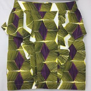 Zara Peplum Geometric Skirt|Size XS